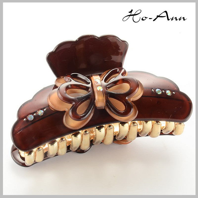 2014new arrival butterfly shaped brown women hair accessory
