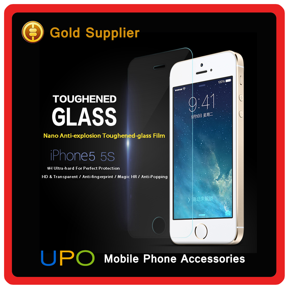 Factory Price mobile phone Tempered glass screen protector for iPhone 5