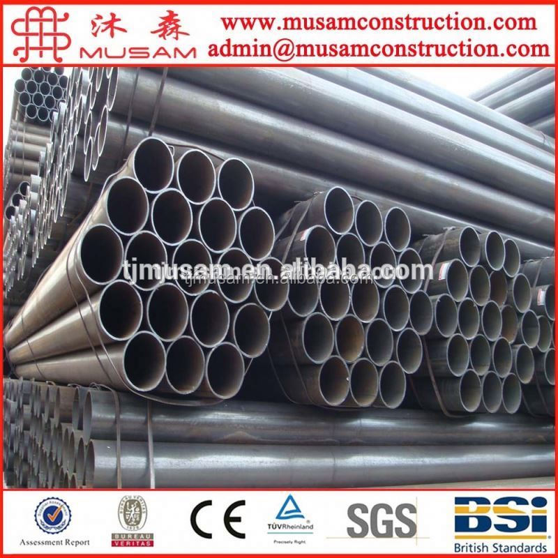 Black round steel pipe /drape for curtain pipe