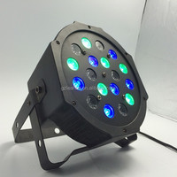 Wholesale price par led 18*1W RGB flat mini Led Par Light