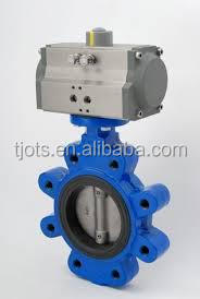 High preformance pneumatic operated flange soft seal butterfly valve