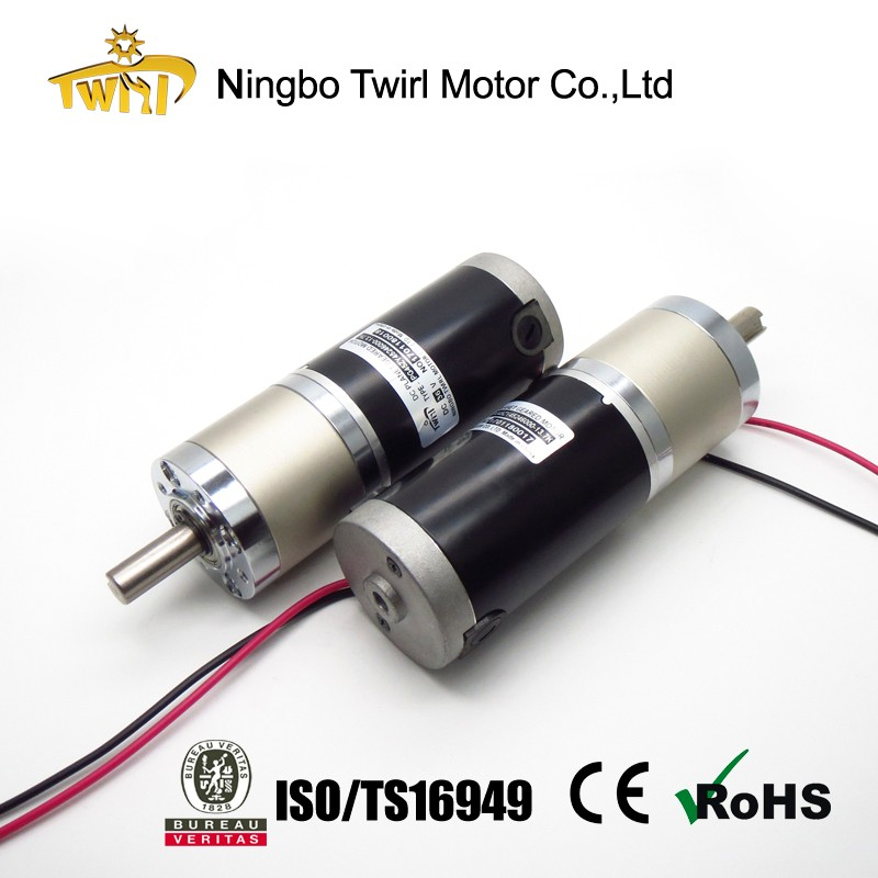 motor supplier in china 45mm dc 12v 24v motor with gear reduction