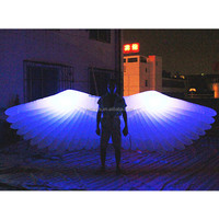 2018 latest craze decorative angel wing balloon, inflatable light wings