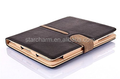 Wholesale 360 degree rotate PU leather case for ipad air 2