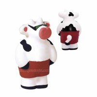 PU Cool Beach Cow foam stress reliever advertising squeeze toys