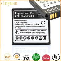 Mobile phone battery for ZTE Blade V880 U880 N880 1500mah Battery Rechargeable Cell Phone Bateria