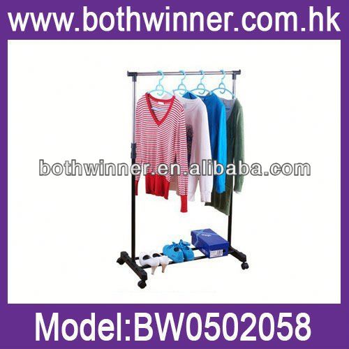 KC272 single clothes hanging rail/rack /clothes hanger