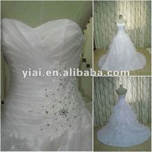 JJ2677 Drop Shipping Organza Ball Gown bridal gown 2012