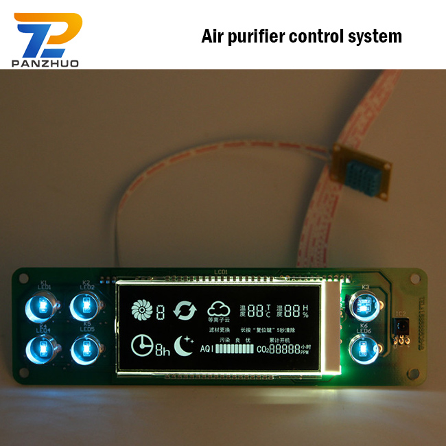Car Air Purifier PCB, customized PCB Circuit Board air conditioner electronic lcd controller control board