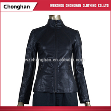 Chonghan 2017 Cheap Wholesale Classic Motorcycle Women Leather Jackets