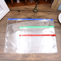 File Bag Stationery Clear Plastic Bag