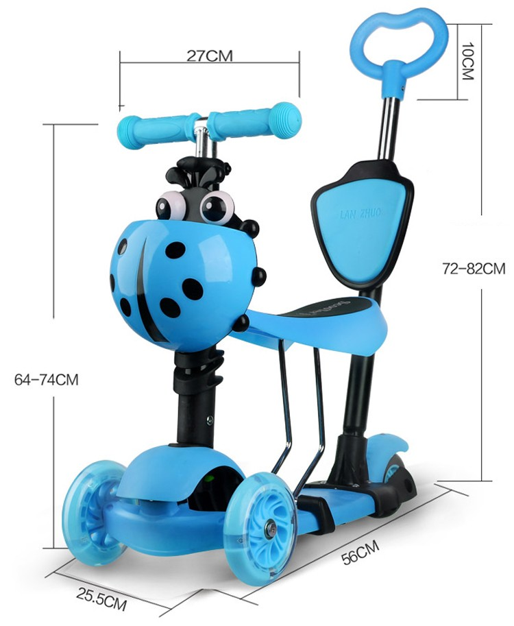 2017 new design 5 in 1 baby kick scooter