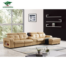 Wholesale Leather Living Room Furniture Corner Italy Leather Corner Sofa
