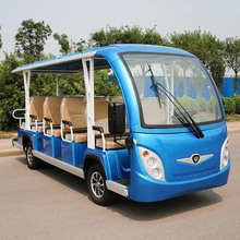 Four wheel open top sightseeing bus