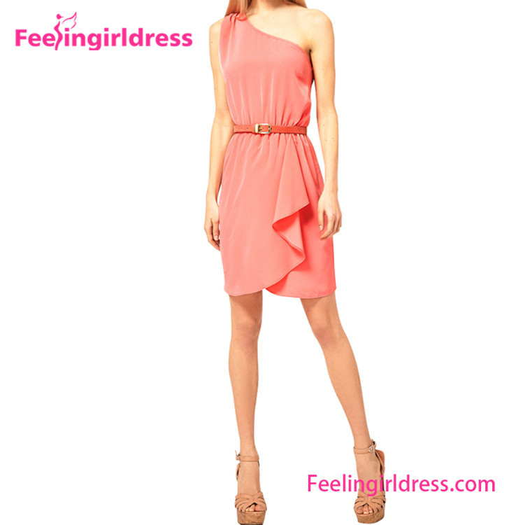 Casual One Piece Pink Sexy Girl Sample Summer Ladies Dresses