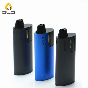 2019 ALD Newest design Heat no burn refilled pods system 6.5ml oil capacity mod box vape without button