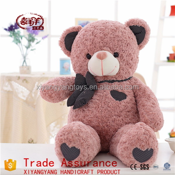Hot Sale High Quality Soft Big Plush Bear Teddy Bear with heart on feet