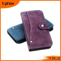 t-phox t-pl-21 PU&TPU leather mobile phone wallet case/cover with rotated card holder