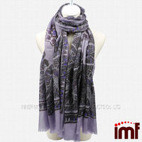 Lady Mature Boiled Wool Scarf Shawl Stole Wrap