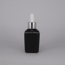 30ml eye essential oil cosmetic packaging square glass dropper bottle