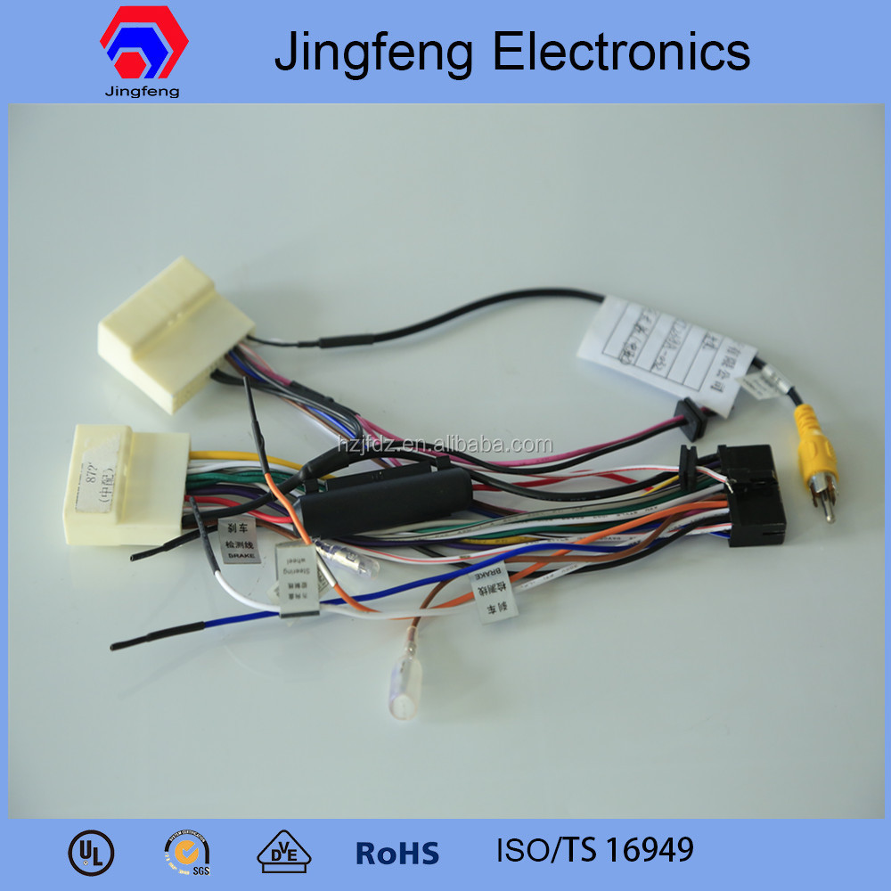 Professional radio frequency car stereo wiring harness made in china for Teana