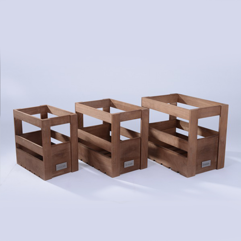 Antique Wooden Crate for wine bottles packing