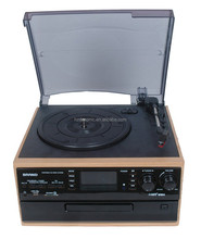 TR-19PCD Classic Turntable CD /SD Record with Cassettle Radio Player