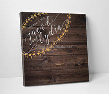 High Quality Recycable Custom Wooden Wedding Guest Book With Frame