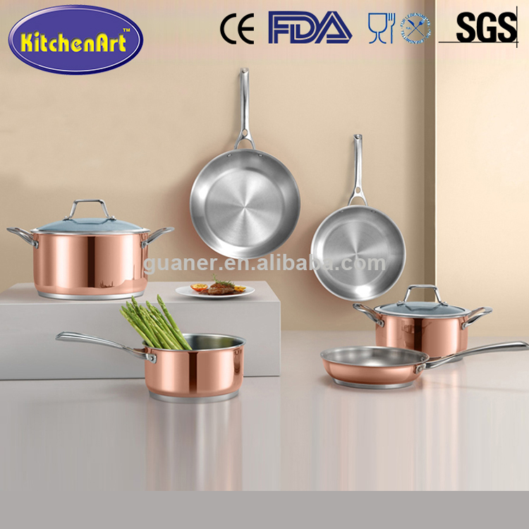 High quality Competitive Price Stainless steel super copper bottom cookware