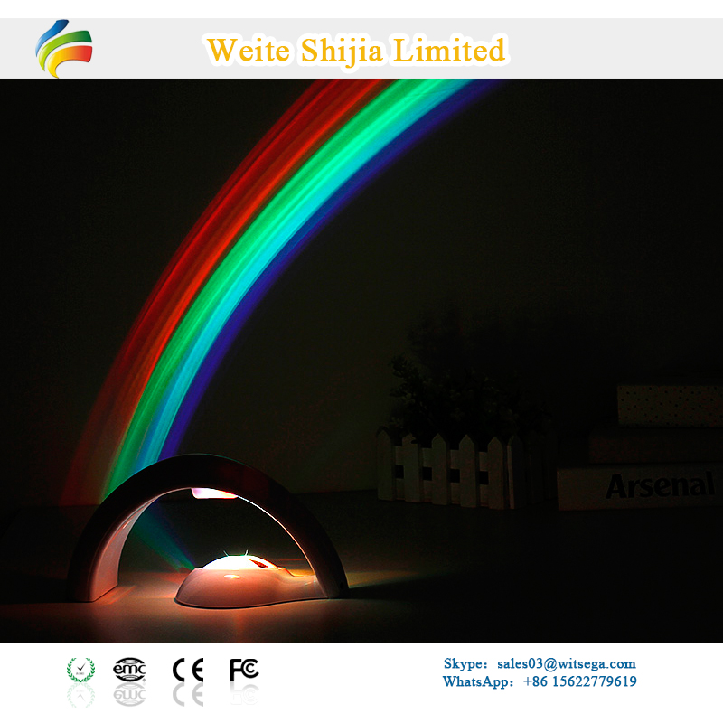 Room Magic Rainbow LED Lights Projector And Decoration Night Lamp For Kids