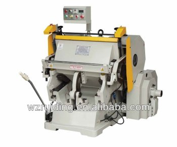 flatbed die cutting machine with heating plate
