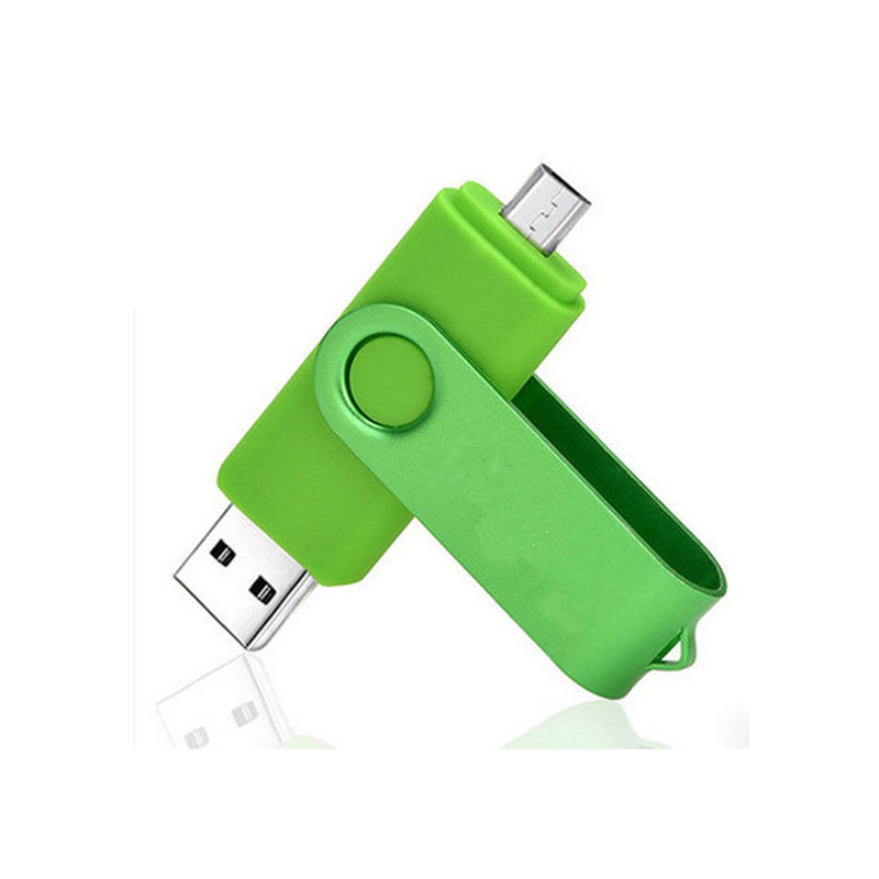 Customized otg plastic swivel usb 2.0 stick flash drive for android