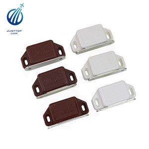 Meitian White Plastic Housing Plate Door Magnetic Catch Latch