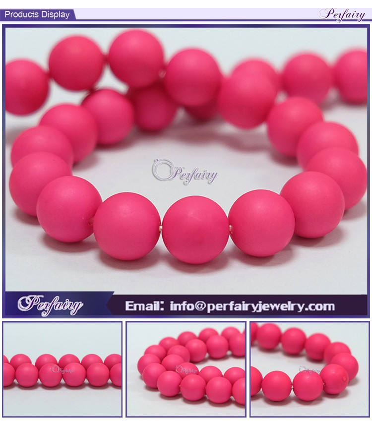 Factory price charming chunky loose beads 6-12mm dark pink matte beads raw mother of pearl shells with large stock