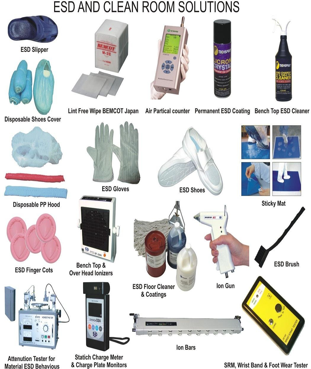 Antistatic Esd Apron, ESD Apron, ESD Anti Static Wrist Strap Band, ESD Gloves, ESD Footwear - ESD Slippers and ESD Shoes