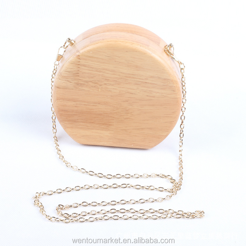 hot sale national style wooden clutch bag stocks