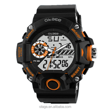 high quality plastic dual time analog digital sports watch