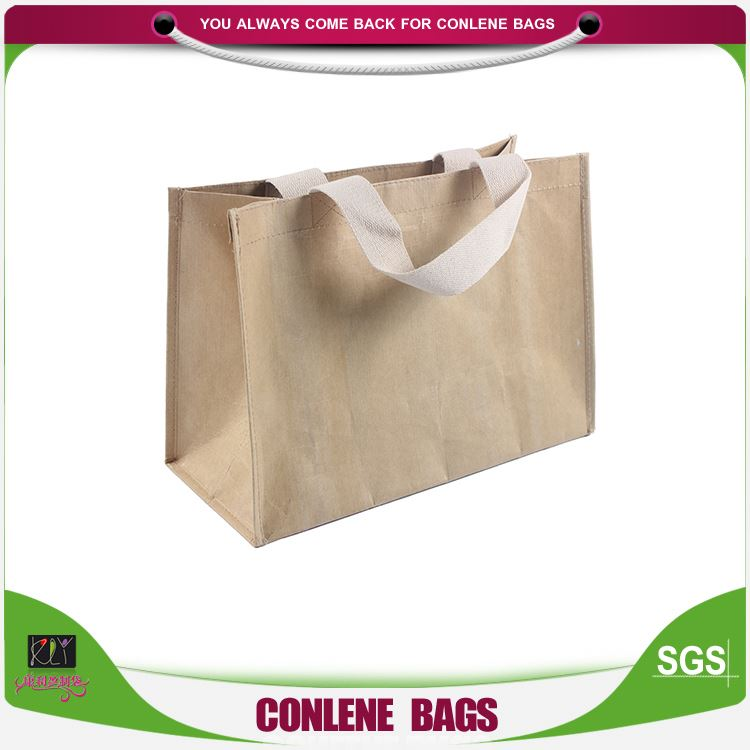 Best selling custom design simple square bottom brown kraft paper shopping bag