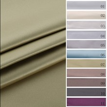 Promotional top quality flame retardant noise reduction satin drapery fabric