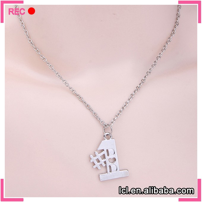 LCL-J5473 #1 DAD Necklace Best Father Gift