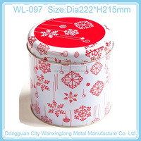 Christmas gift set of tin box for cookie packing