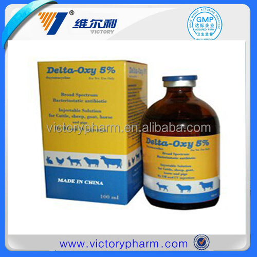 Manufacturer of Oxytetracycline 20% Injection Aniaml Medicines for Cattle/Pig/Sheep