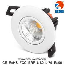 Led ceiling spotlight 7w retrofit small led downlight 90ra 75-85mm cut hole warranty for 5years