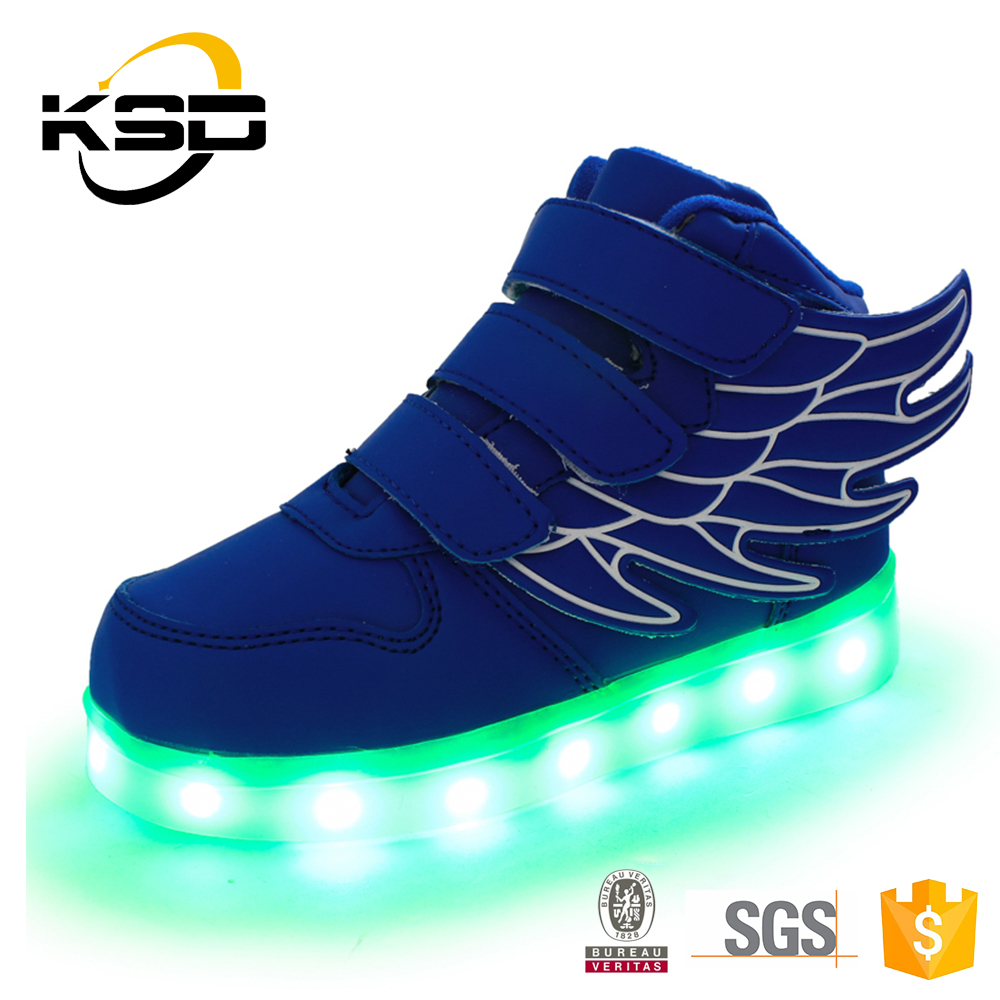 Rechargeable LED Shoes with LED Lights for Kids Angel Wings Dance Shoes