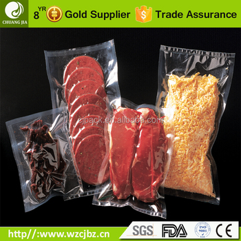 Beef Jerky 7 Layer PA PE Co extruded Plastic Food Packaging Material Vacuum Bag wih FDA EU Certificated