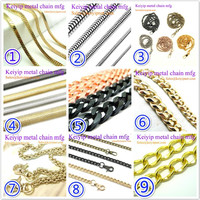 Gold Plated Brass Chain For Bags