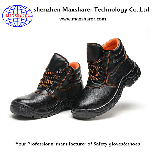 PU injection mens work safety boots heavy work protective discount safety boots