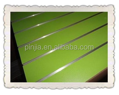 Hot Sale/ High Quality/Low Prices 18mm Slotted Melamine Faced MDF For Furniture