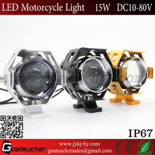 Top sell 3000lm Transformer U5 motorcycle light 125w led 15W motobike headlight led spot light for motorcycle