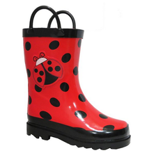 Rubber fashion high quality adult ladybug rain boots